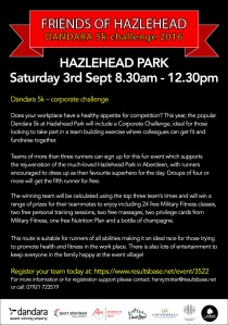 Dandara Hazlehead 5K Corporate Challenge flyer